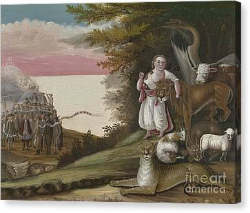 The Peaceable Kingdom, 1829-30 Canvas Print by Edward Hicks