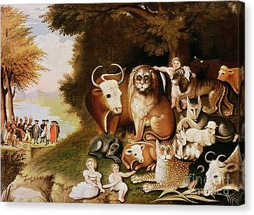 The Tiger Canvas Print - The Peaceable Kingdom by Edward Hicks