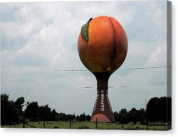 The Peachoid Canvas Print by Carl Miller