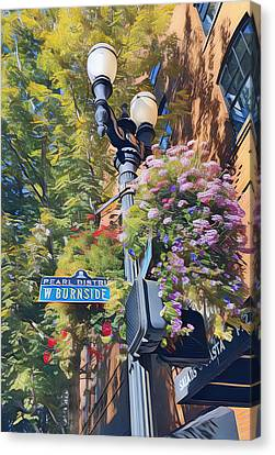 Lamp Post Canvas Print - The Pearl District by Karyn Robinson