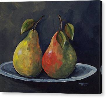 The Pears  Canvas Print by Torrie Smiley