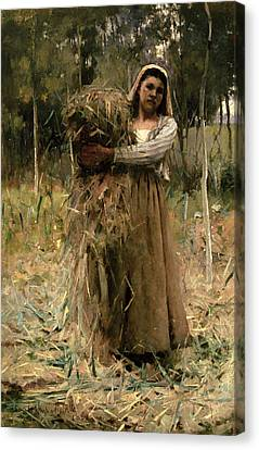 The Peasant Girl  Canvas Print by Arthur Melville
