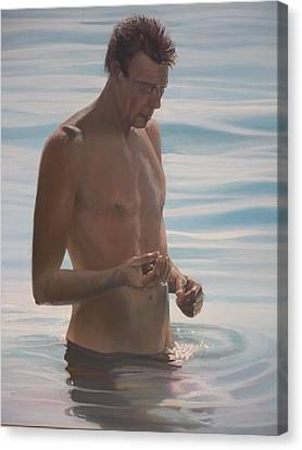 The Pebble Collector Canvas Print