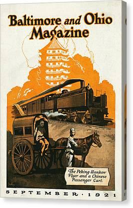 The Peking Hankow Flyer Canvas Print by Steffan