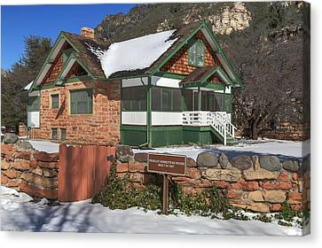 Slide Rock Canvas Print - The Pendley Homestead by Donna Kennedy