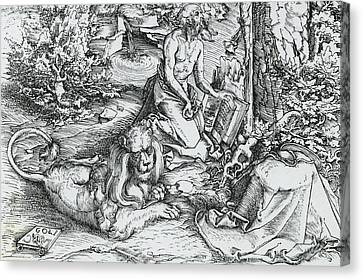 The Penitence Of Saint Jerome Canvas Print by Lucas the elder Cranach