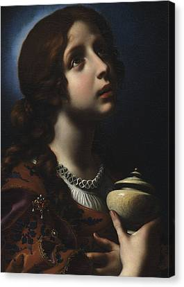 The Penitent Magdalene Canvas Print by Carlo Dolci