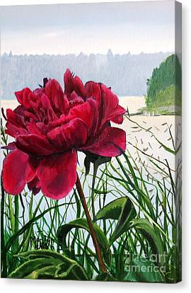 Canvas Print - The Peony by Marilyn McNish