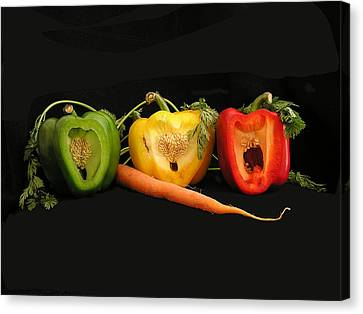 The Pepper Trio Canvas Print by Carol Milisen