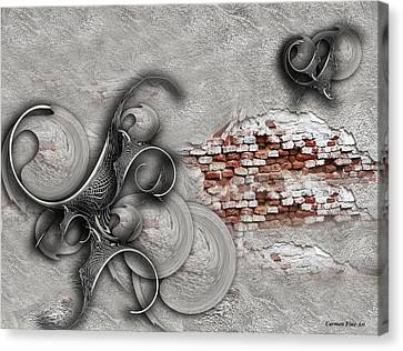 Canvas Print featuring the digital art The Perceptive Compilation by Carmen Fine Art