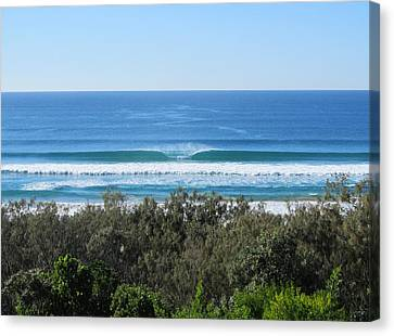 The Perfect Wave Sunrise Beach Queensland Australia Canvas Print