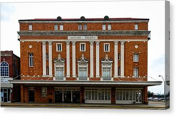 Saenger Canvas Print - The Perot Theatre by Mountain Dreams