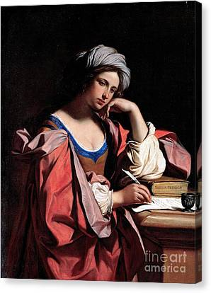 Canvas Print featuring the painting The Persian Sibyl by Pg Reproductions