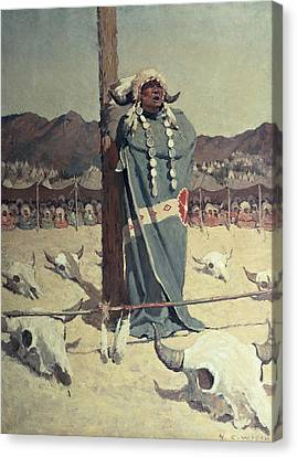 The Petition Canvas Print by Newell Convers Wyeth