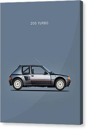 The Peugeot 205 Turbo Canvas Print by Mark Rogan