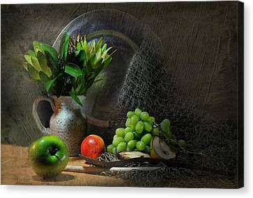 The Pewter Plate Canvas Print by Diana Angstadt