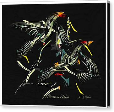 The Pheasant Hunt Canvas Print by Jerry White