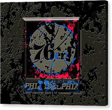 Julius Erving Canvas Print - The Philadelphia 76ers 1b by Brian Reaves