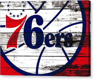 Julius Erving Canvas Print - The Philadelphia 76ers 3e       by Brian Reaves