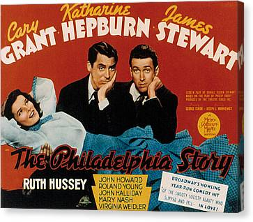 The Philadelphia Story, Katharine Canvas Print by Everett