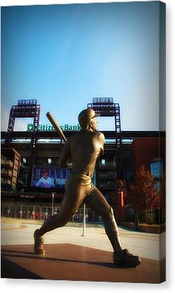 Citizens Bank Park Canvas Print - The Phillies - Mike Schmidt by Bill Cannon