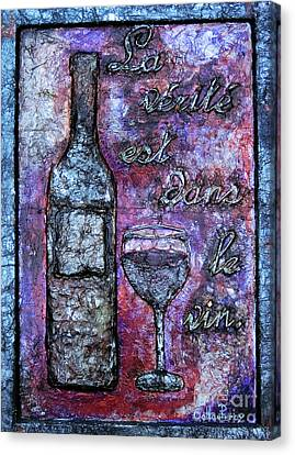 Bas Relief Canvas Print - The Philosophy Of Wine by Callan Percy