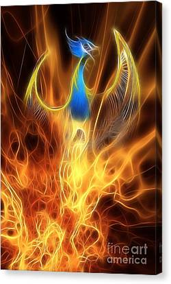 Mythology Canvas Print - The Phoenix Rises From The Ashes by John Edwards