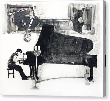 The Pianist Canvas Print by Roz McQuillan