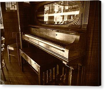 Canvas Print featuring the photograph The Piano In The Corner by Guy Whiteley