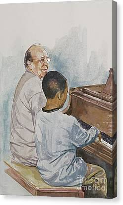 The Piano Lesson Canvas Print by Colin Bootman