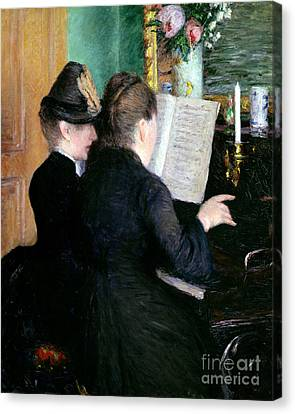 Piano Canvas Print - The Piano Lesson by Gustave Caillebotte
