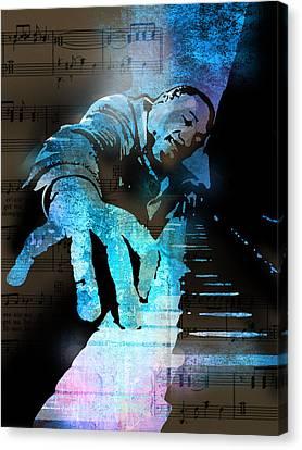 The Piano Man Canvas Print by Paul Sachtleben