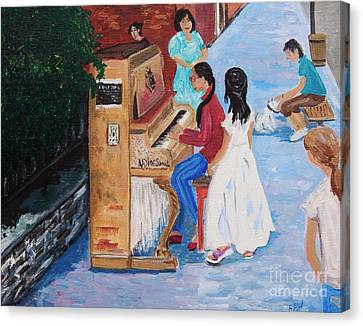 The Piano Player Canvas Print by Reb Frost