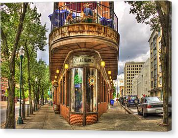 Burger Canvas Print - The Pickle Barrel Too Chattanooga Tennessee by Reid Callaway