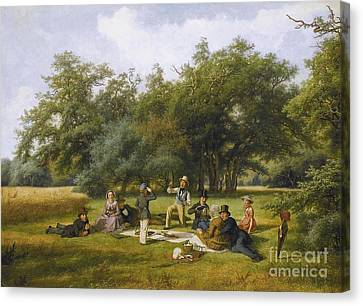 The Picnic Canvas Print by Celestial Images