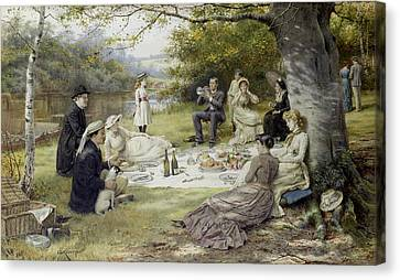 The Picnic Canvas Print by MotionAge Designs
