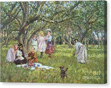 Pleasure Canvas Print - The Picnic by James Charles
