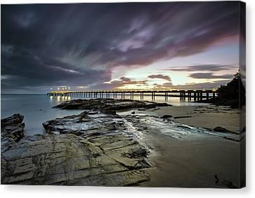 The Pier @ Lorne Canvas Print by Mark Lucey