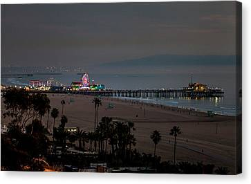The Pier After Dark Canvas Print