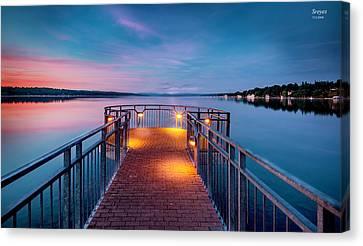 Skaneateles Lake Canvas Print - The Pier At Skaneateles Lake by Scott Reyes