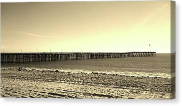 The Pier Canvas Print by Mary Ellen Frazee