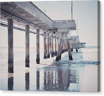 The Pier Canvas Print by Nastasia Cook