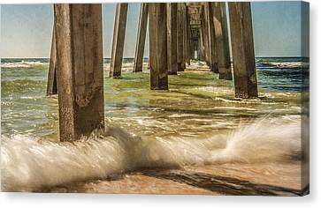 The Pier Canvas Print by Phillip Burrow