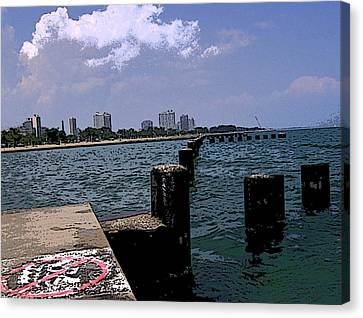 Canvas Print featuring the photograph The Pier by Skyler Tipton