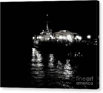 Canvas Print featuring the photograph The Pier by Vanessa Palomino