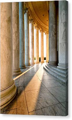 The Pillars Of D.c. Canvas Print by Greg Fortier