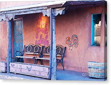 The Pink Adobe Canvas Print by Bob and Nancy Kendrick