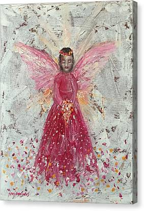 The Pink Angel 2 Canvas Print by Jun Jamosmos