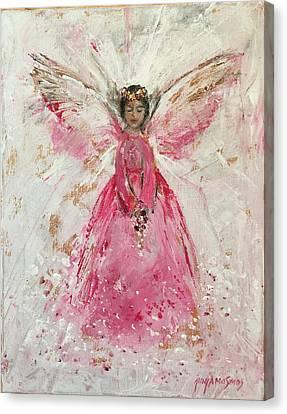 The Pink Angel  Canvas Print by Jun Jamosmos
