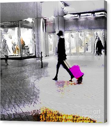 Canvas Print featuring the photograph The Pink Bag by LemonArt Photography